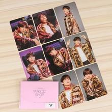 KPOP Bangtan Boys 8PCS 9PCS Magic Shop LOMO Cards JIMIN JIN SUGA J-HOPE Photocards Fans Collection