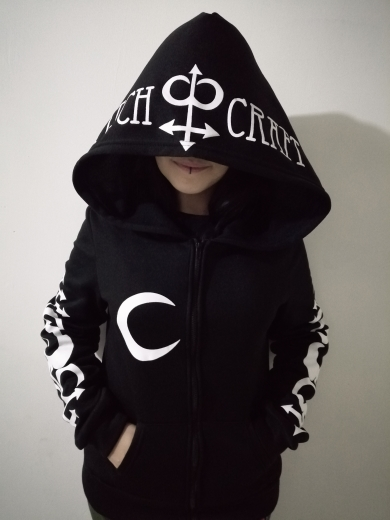 Hoodies with Moon and Letters Print photo review