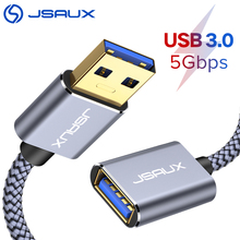 USB Extension Cable JSAUX USB 3.0 A Male to USB A Female PS4 TV SSD Extender Cord 5Gbps Data Transfer USB Flash Drive Keyboard