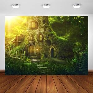 Image 2 - ファンタジージャングルの森の写真撮影の背景エルフパーティーの装飾ベビー肖像ための写真の背景写真フォトスタジオ