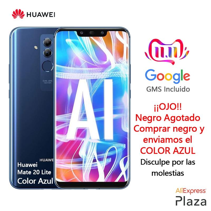 Huawei mate 20 lite cor azul (4 gb ram, 64 gb rom, teléfono móvil. libre, nuevo, barato, google, android) [versión española oficial]