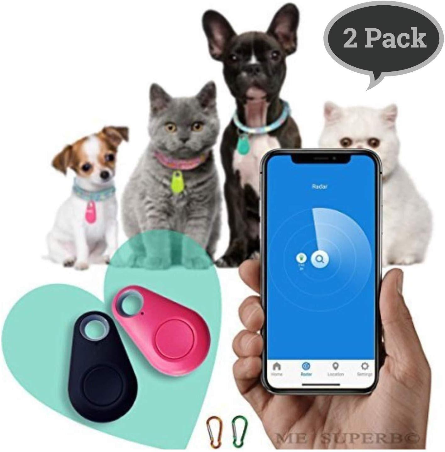 Water Anti Drop Device with Bluetooth GPS Locator Alarm Locator Finder Tracker Mobile Phone Two-Way Alarm Pet Child Key Anti-Lost Black