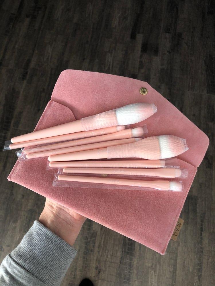 8PCS Makeup Brushes Sets Powder Foundation Blusher Eyeshadow Brush Candy Cosmetic Colorful Make Up NO MSQ LOGO With Bag reviews №1 223976