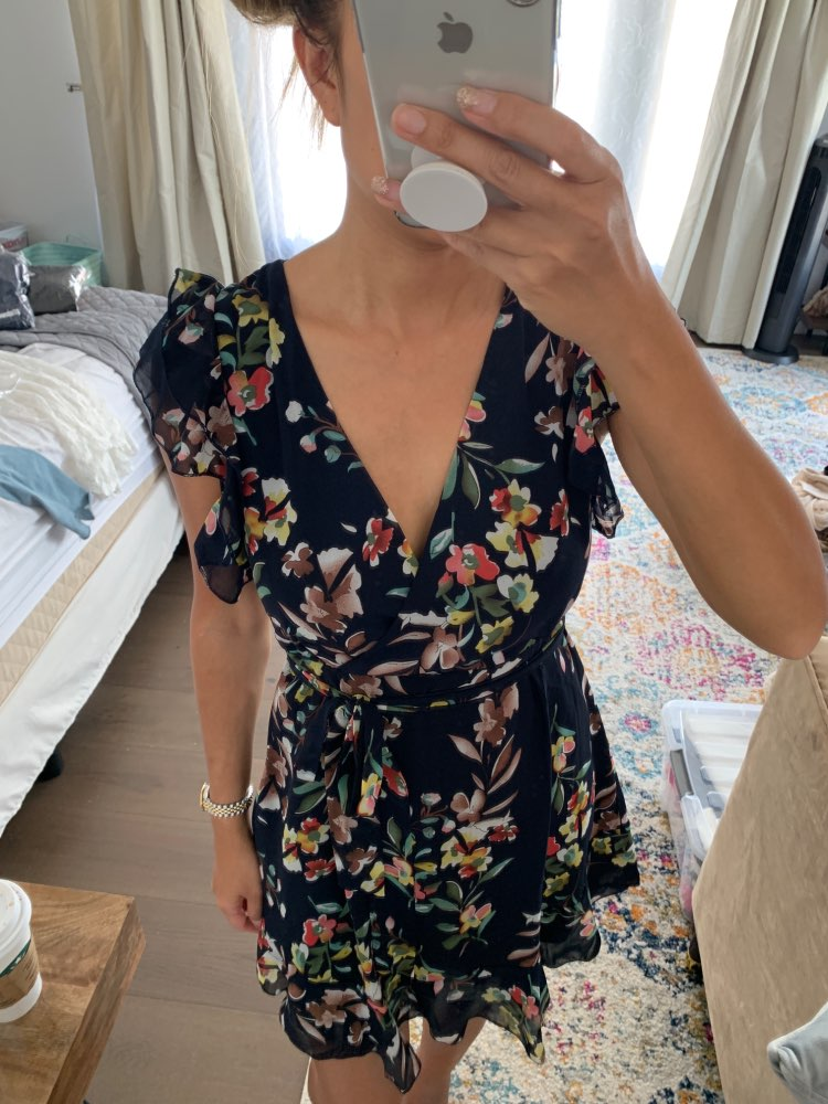 Vintage White Floral Print Chiffon Dress Women Summer Sexy Backless Short Dress Female Holiday Party Dress Vestidos photo review