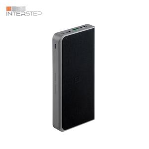 Внешний аккумулятор INTERSTEP PB12Qi 12000мАч, QC/PD 10Вт TypeC+8pin, беспроводной и проводной быстрый заряд