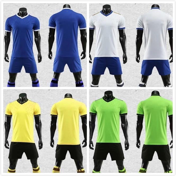 High Quality China OEM Customize Soccer Jerseys Shorts Set Professional Design Football Team Logo Uniform Adult Youth T-Shirts