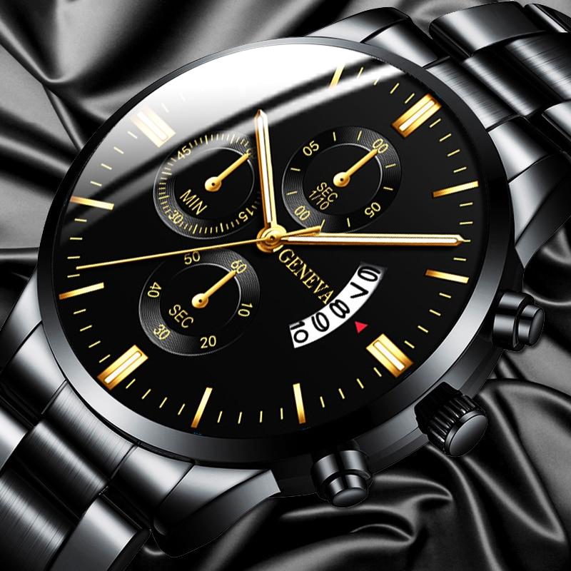 Fashion Men Stainless Steel Watch Luxury Calendar Quartz Wrist Watches Business Casual Watch For Man Clock Reloj Hombre