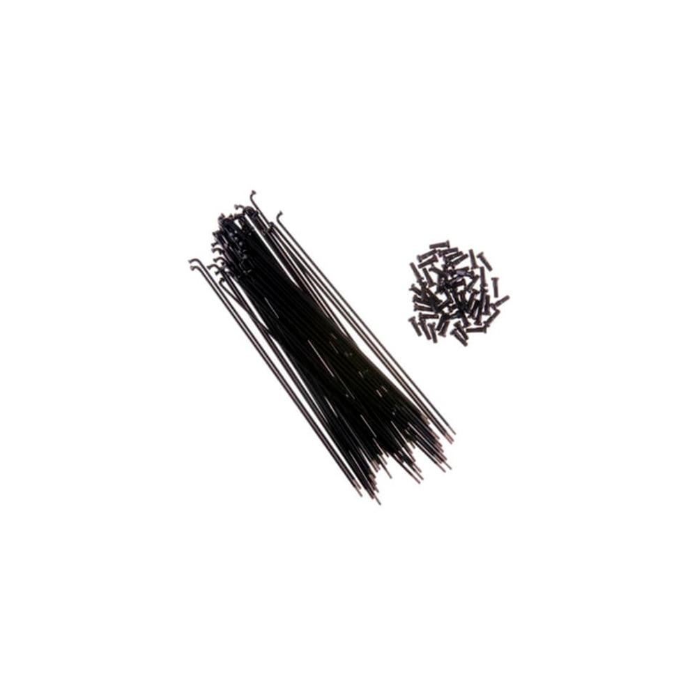 Spoke SHUN JIU 45 # Constant section 14G 293mm nipple Black bicycle 14 led 45 patterns waterproof wheel spoke light