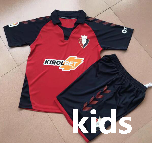 19 20 pour enfants kits Osasuna Futbol Camisa 2019 2020 garçons Osasuna Camiseta de futbol t-shirt Maillot Maglia course T-Shirts