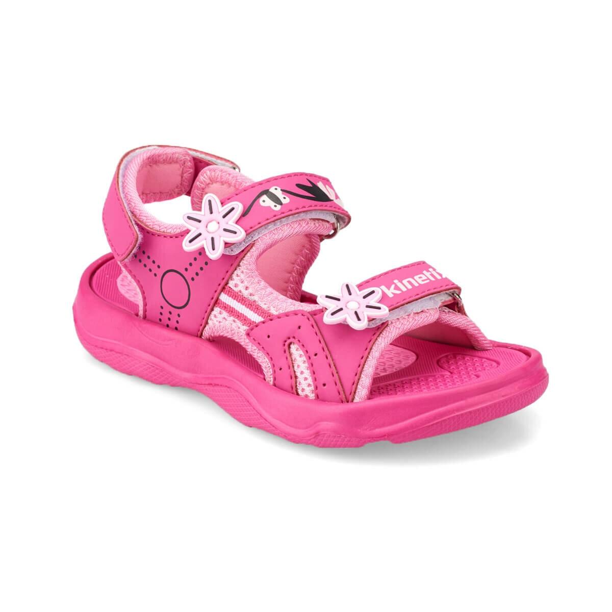 FLO KELLY Fuchsia Girls Child Sandals KINETIX