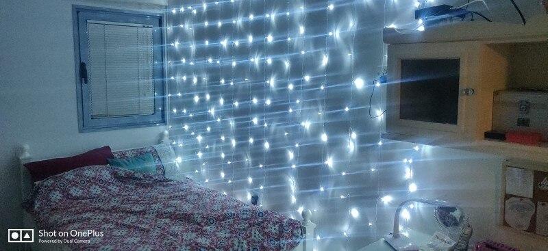 Fios de LED Casamento Jardim Emissor