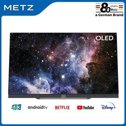 Fernsehen 65 ZOLL OLED TV METZ 65S9A62A ANDROID TV 9,0 Google Assistent Großen Bildschirm Voice Fernbedienung 2-Jahr garantie