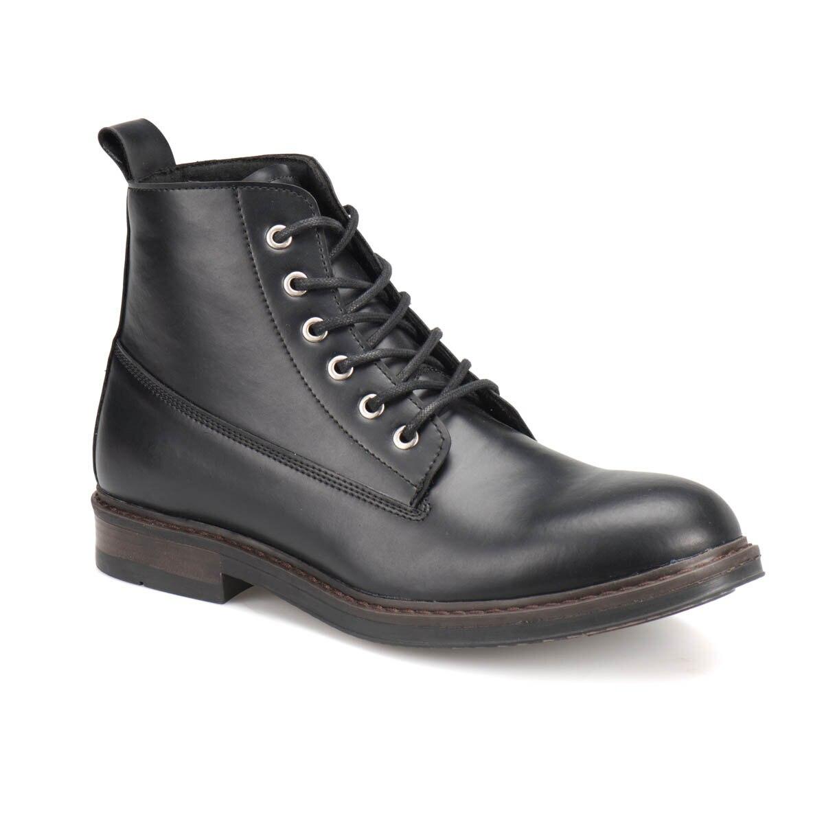FLO RD-1 Black Men Boots JJ-Stiller