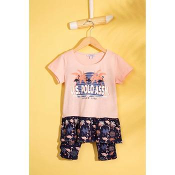 Us Polo Assn Różowa piżama zestaw 50210103-VR041 tanie i dobre opinie U S POLO ASSN