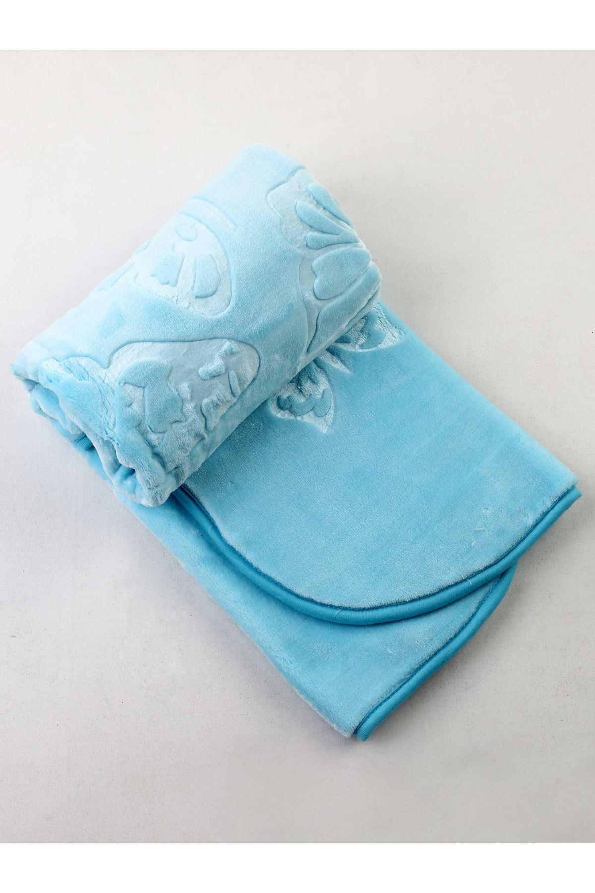 Green Plush 120x100 Cm Baby Blanket