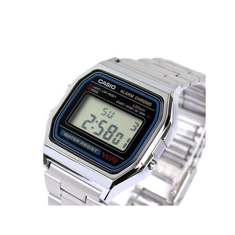 New Casio Watch Silver A158WA-1 Official