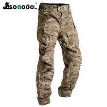 Soqoool erkek moda açık yürüyüş tulum pantolon kamuflaj taktik pantolon askeri üniforma söndürme çok cep pantolon