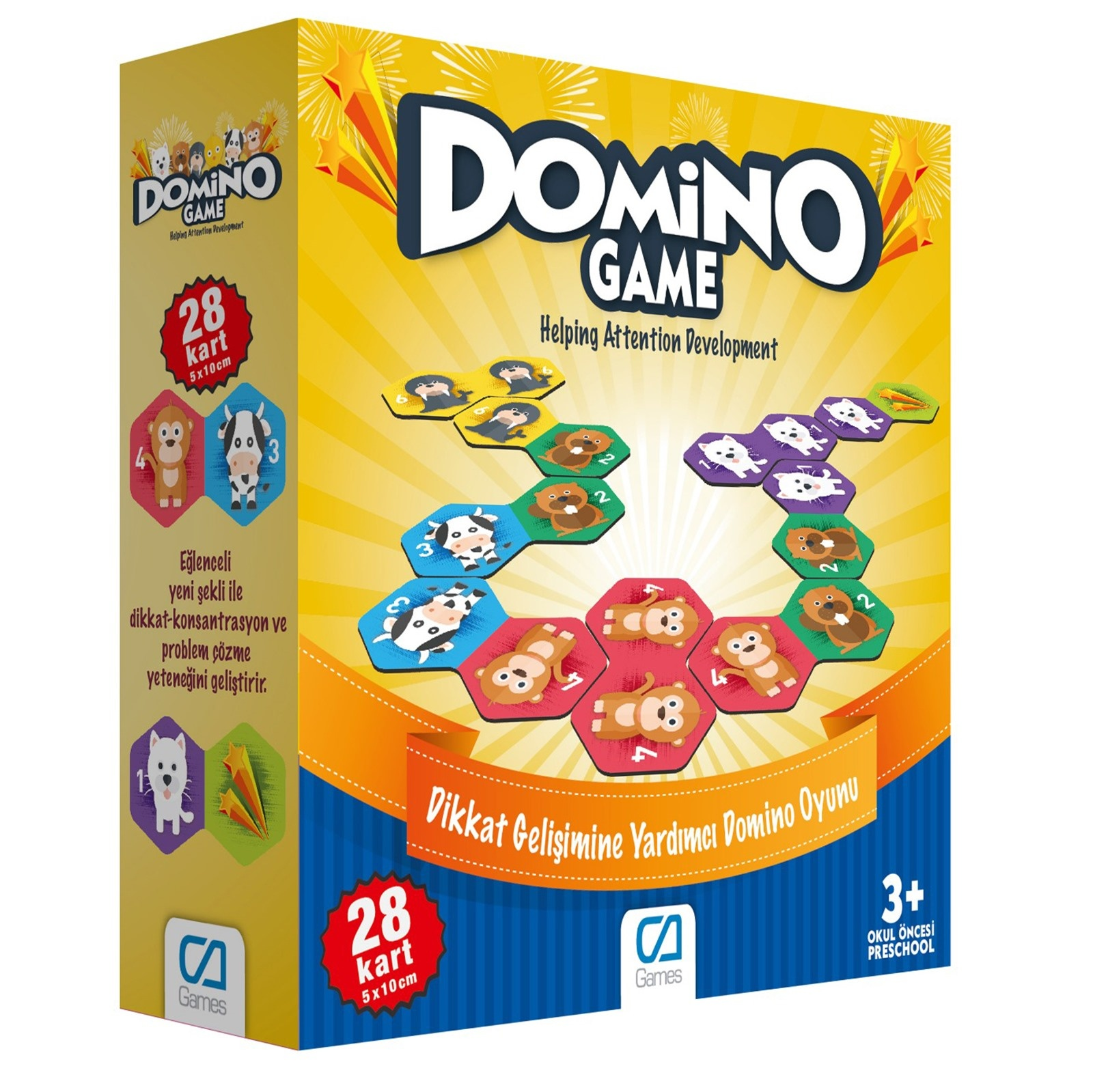 Ebebek Ca Games Fun Family Domino Game 28 Card 3 Years+