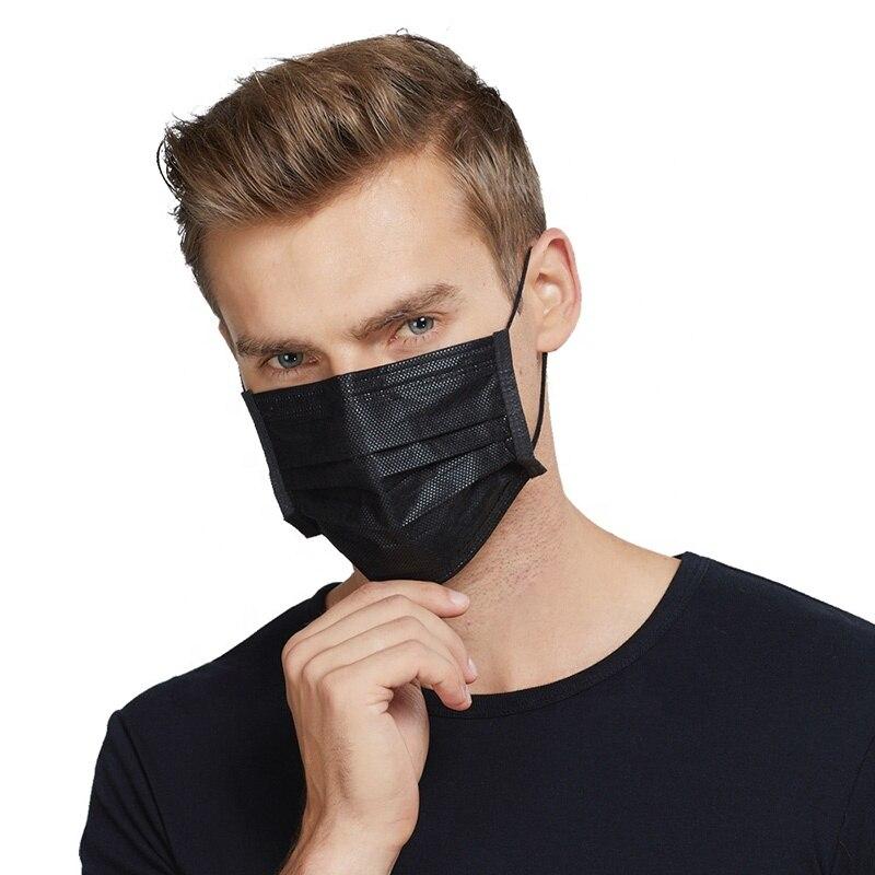 Black Medical Masks, Multilayer 10 PCs/comp