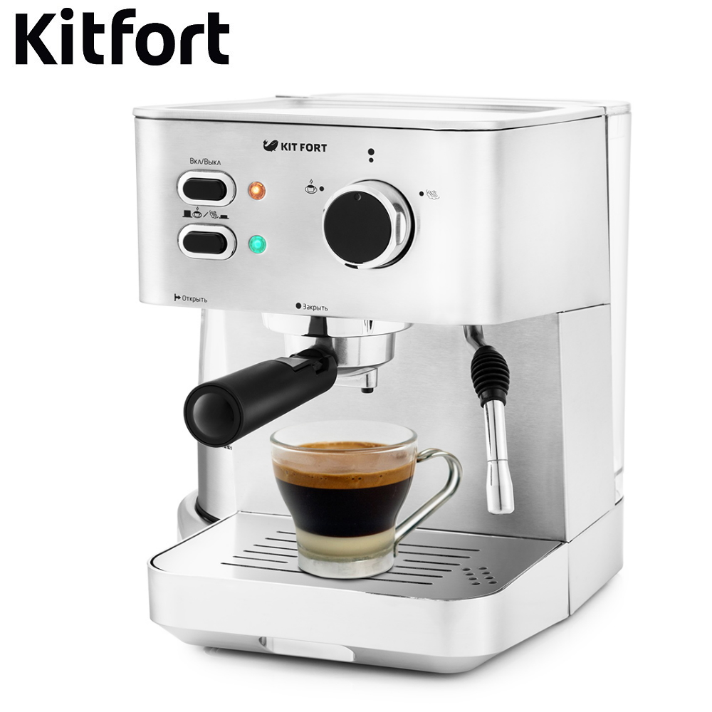 Coffee Maker Kitfort KT-722 Coffee Maker  kitchen automatic pump Coffee machine espresso Coffee Machines Coffee maker Electric coffee maker philips grind