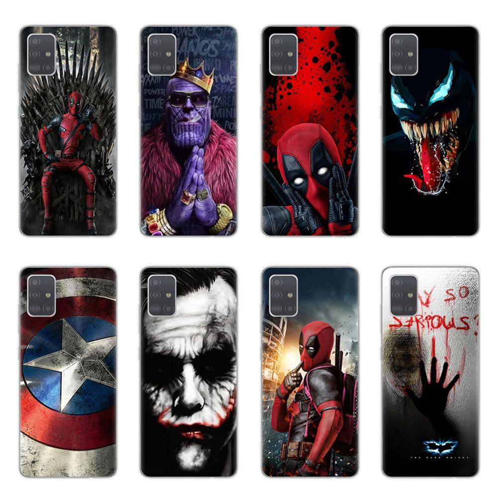 Marvel DC Comics Iron Man SpiderMan Joker Batman Phone Case Cover For Samsung A10 A20 A30 A40 A50 A70 A51 A71 S20 Plus Ultra