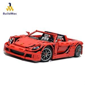 BuildMoc Technic 8579 Porsche-Carrera строительные блоки автомобиль кирпич Набор Обучающие DIY игрушки для детей мальчиков