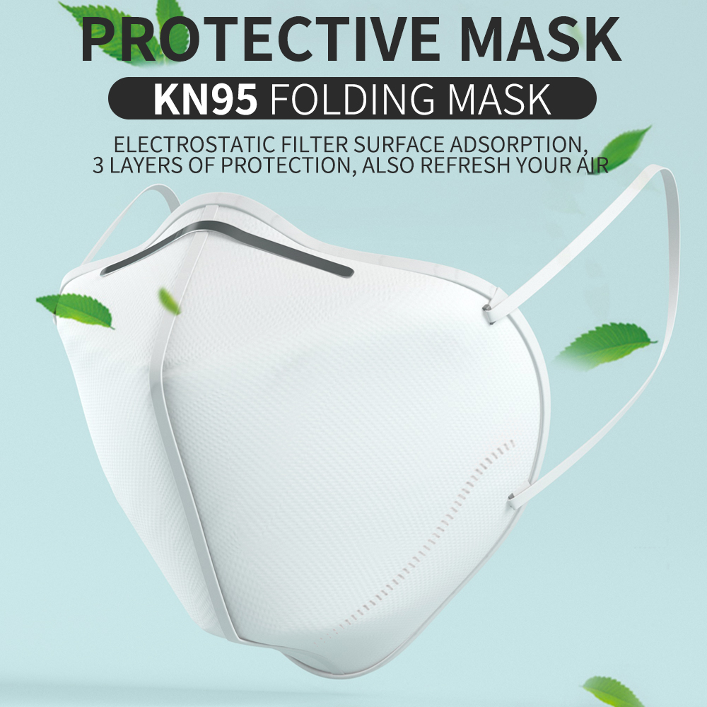 Ship in 24 Hours 5PCS KN95 Folding Face Mouth Mask Disposable 