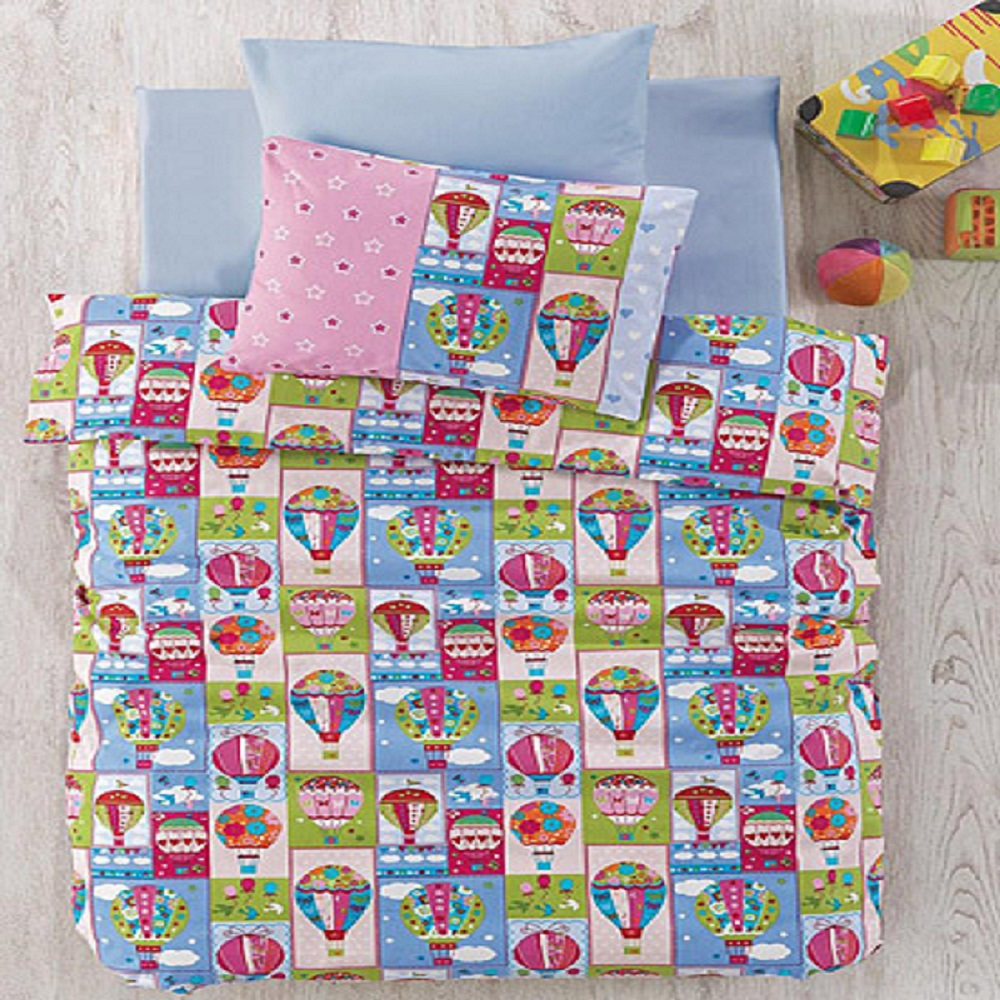 Made In Turkey FLY Baby Bedding Duvet Cover Set Crib For Boy Girl Cartoon Animal Baby Cot Cotton Soft Antiallergic