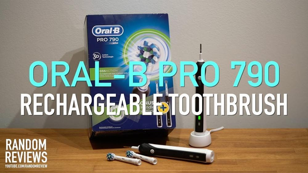 ORAL-B Pro 790 Crossaction Electric Rechargeable Toothbrush Tool Dentist Teeth Whitening Duo Advantage Package 2 Handles