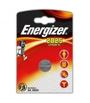Pilas de boton Energizer bateria original Litio CR2025 3V en blister 2X...