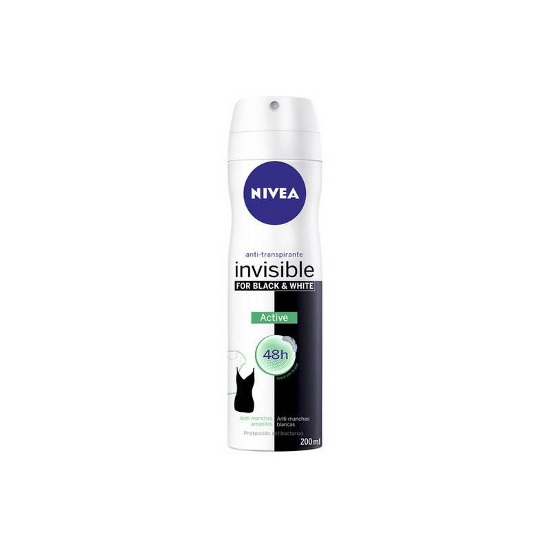 Deodorant Spray Black & White Unseen Active Nivea (200 Ml)