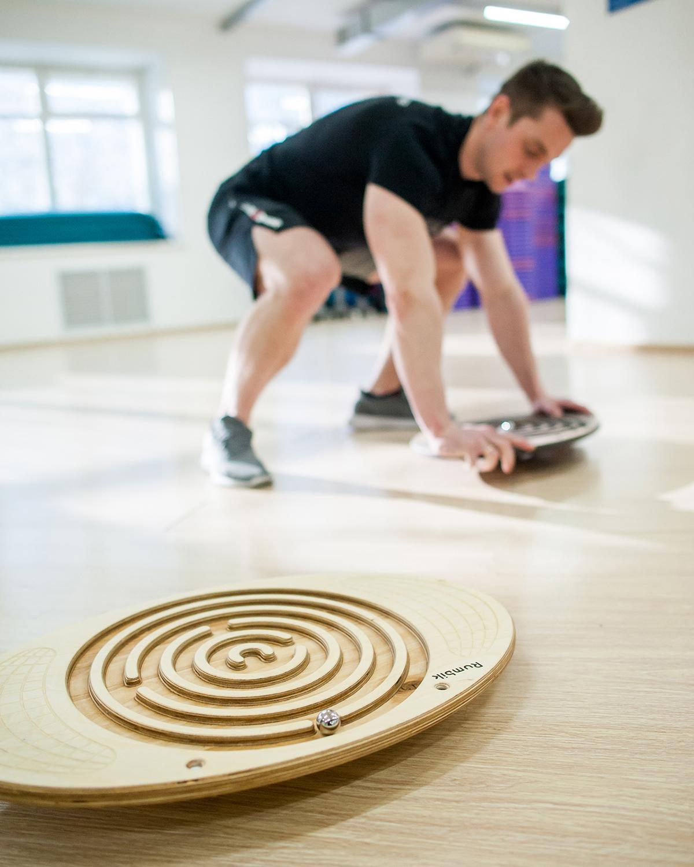 Balance Board Rumbik Fitness, White Oil, Waist For Development Coordination, Balance Disc