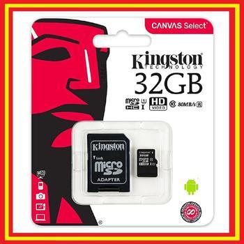 Tarjeta Micro SD 32GB Class 10 Canvas Kingston-Original-MicroSD Tarjeta de Memoria