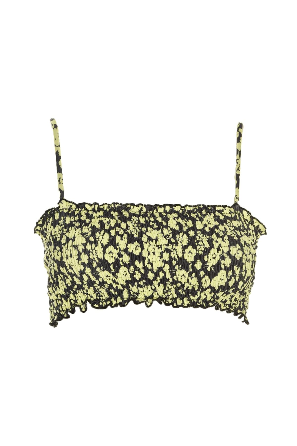 Trendyol Flower Decorated Gipeli Bikini Top TBESS20BU0004