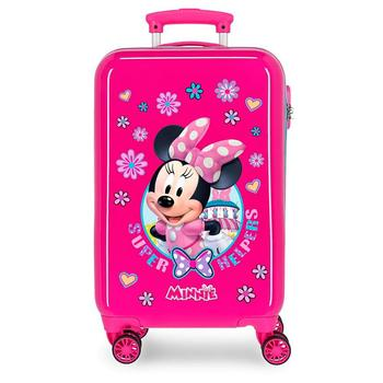 Cabin suitcase rigid ABS Minnie Super Helpers free shipping log cabin suitcase man spider dimensions 55x38x20cm free shipping