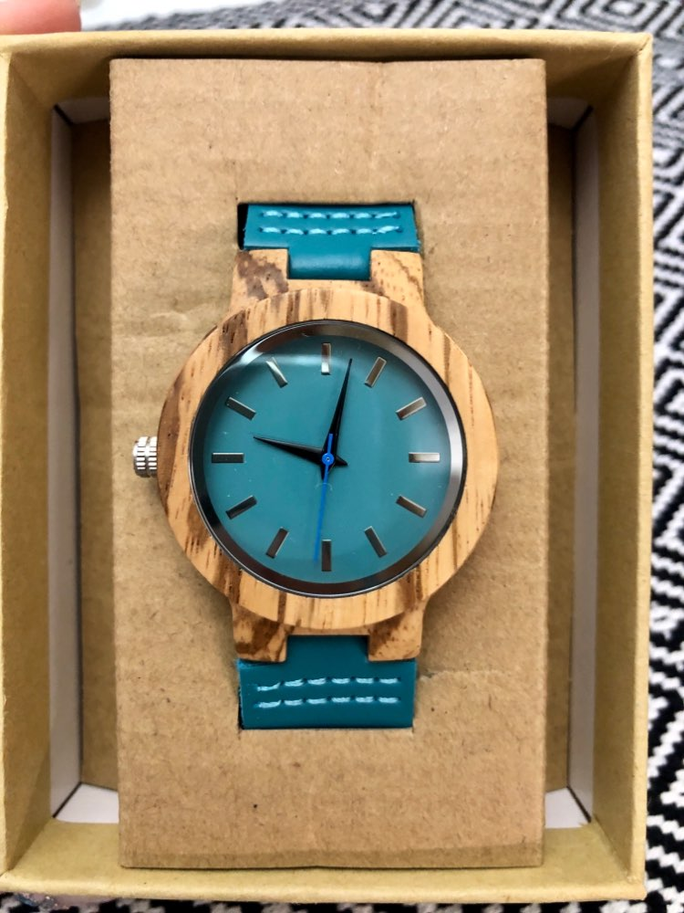 BOBO BIRD Women Watches Zebra Wooden Timepieces Turquoise Blue Men Watch Lovers Great Gifts Relogio Masculino Drop Shipping