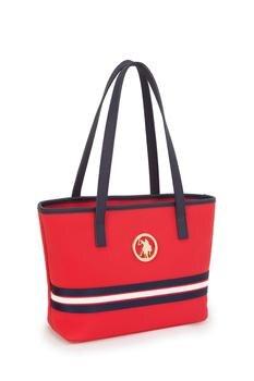 U.S. Polo Assn. Fashion Women Handbag Shoulder Bag Navy Blue Red 1005001718951361 фото