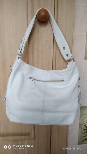 Fashion Soft Real Genuine Leather Tassel Women Handbag Elegant Ladies Hobo Shoulder Bag Messenger Purse Satchel White photo review