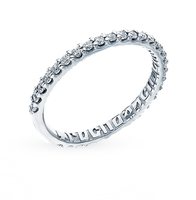 Fashion jewelry silver ring with cubic zirconia SUNLIGHT test 925 women's, female