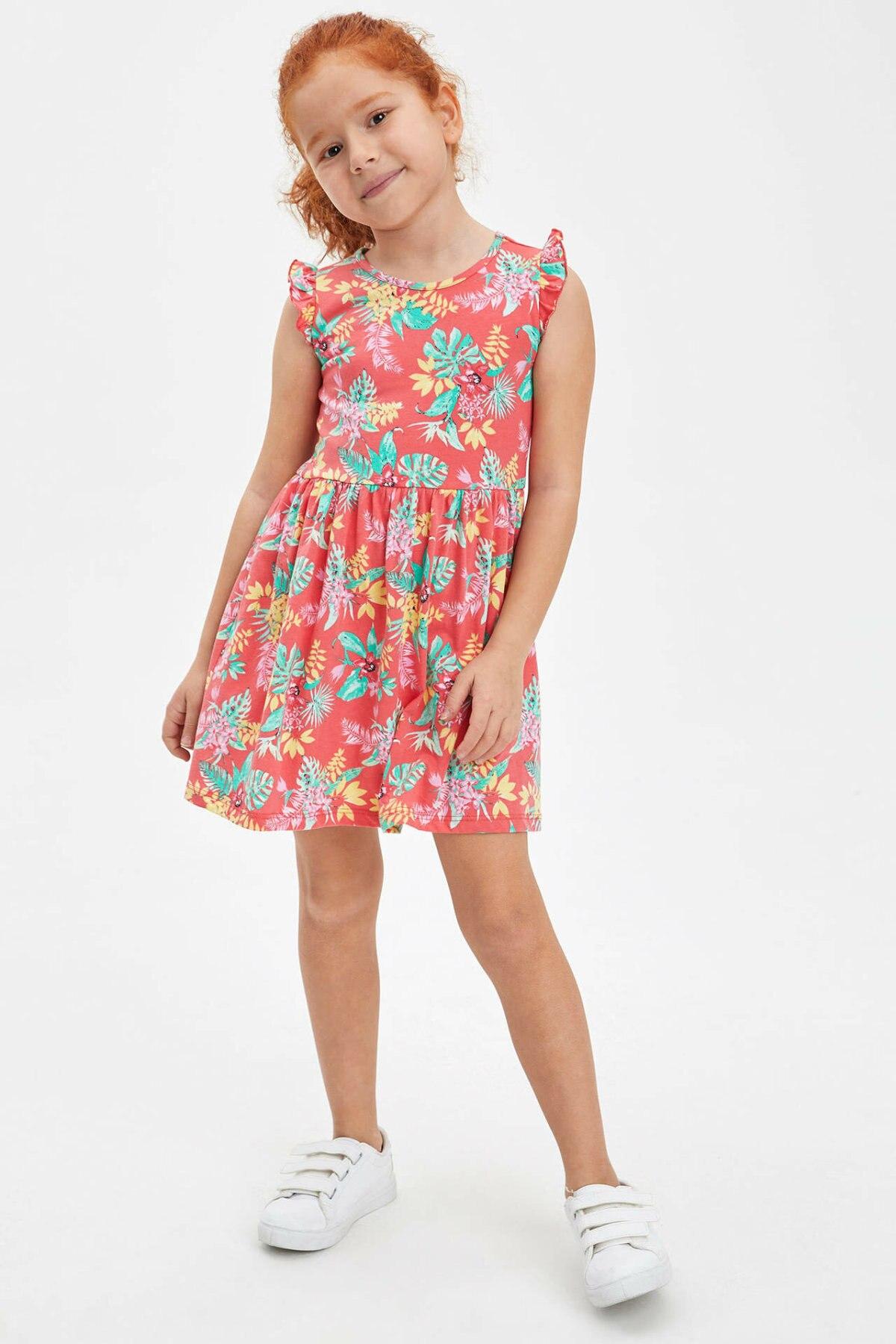skipper Più di tutto Kent  DeFacto Girl Knitted Dress Girls' Red Floral Dresses Girls Casual  Sleeveless Dress Girl Summer Lovely Dress M8073A620SM|Dresses| - AliExpress