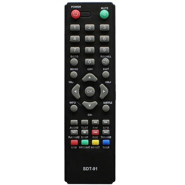 Télécommande pour Supra SDT - 91 DVB-T2 SDT-83 SDT-84 récepteur SDT-85 SDT-90