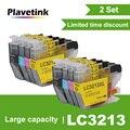 Plavetink 2 комплекта устройство локального контроля  3219XL совместимый чернильный картридж для принтера Brother LC3219 XL MFC-J5330DW MFC-J5335DW MFC-J5730DW MFC-J5930DW прин...