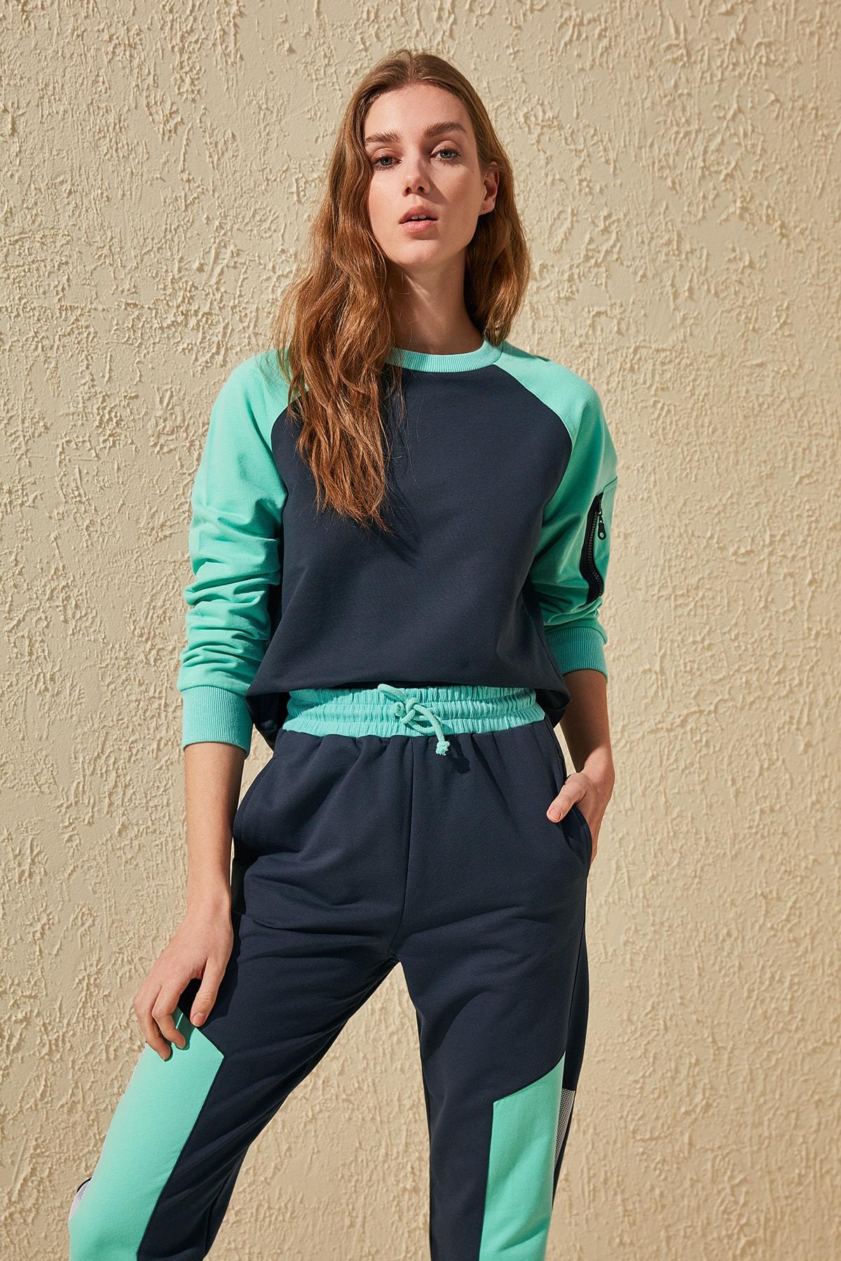 Trendyol Handles Zipper Knitted Sweatshirt TWOSS20SW0102
