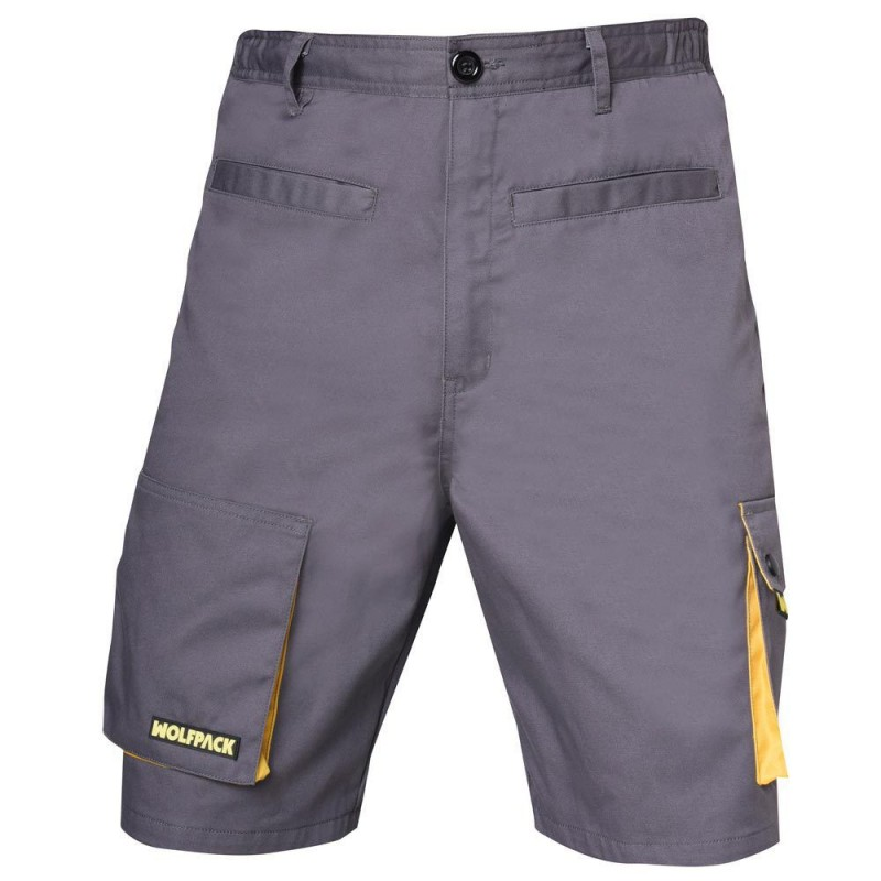 Pants Work Gray/Yellow Short Size 42/44 M