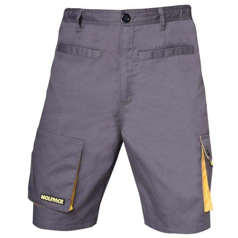 Pants Work Gray/Yellow Short Size 50/52 XL