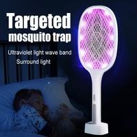 Elektrische Moskito Schläger Wiederaufladbare Moskito-klatsche 6/10 LED UV Falle Insekten Mörder Falle raqueta mata moskito electrico