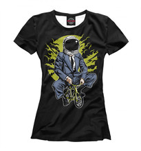 Girls's T-shirt moon bike