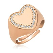 Silver Heart Pinky Ring 446507661()