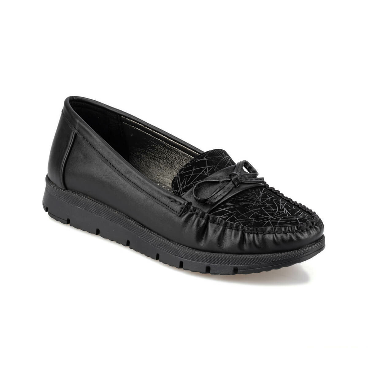 FLO 92.151012.Z Black Women Loafer Shoes Polaris
