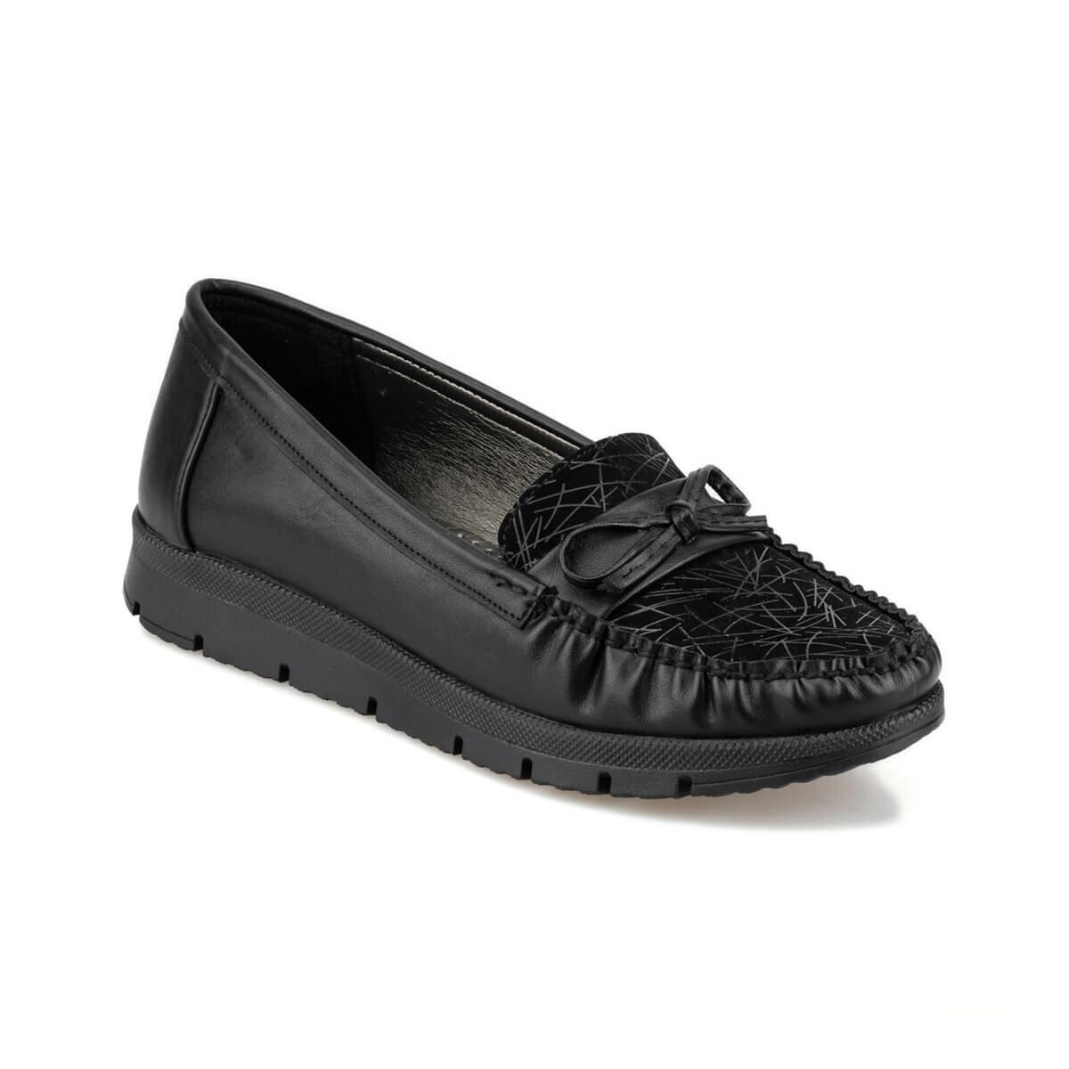 FLO 92.151012.Z Black Women Loafer Shoes Polaris